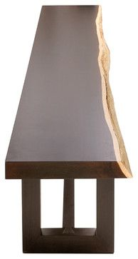 Geometric Console - Solid Raw Edge Wood Slab - contemporary - buffets and sideboards - miami - Rotsen Furniture