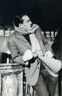 Director Luchino Visconti on the set of Le Notti Bianche (1957).