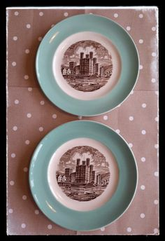 Vintage english Wedgwood plates a set of 2 by PawhillTreasures