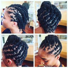 I love styling short locs💜 Dreads, Starter Locs, Dreadlock Hairstyles, Short Styles, Braid Styles, Healthy Hair, Crowns, Hair And Nails, Hair Inspiration