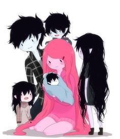 Marshall Lee x Princess Bubblegum (And their kids! SQUEE!!!!) - Adventure Time