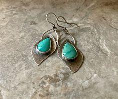 Earrings Photo, Drop Earrings, Rustic Cuff, Opal Necklace, Turquoise Earrings, Rustic Design, Turquoise Stone, Metal Jewelry, Handmade Items