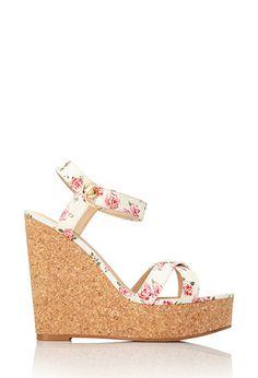 Femme Floral Wedge Sandals | FOREVER21 - 2000072186 23.54