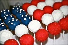 4th of July cake pop flag!!!