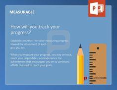SMART Ziele Tool Box: MESSBAR - Wie werden Sie Ihren Fortschritt messen? Legen Sie für die Erreichung jedes Ziels konkrete Messgrößen fest. Wenn Sie Ihren Fortschritt messen, bleiben Sie fokussiert und erreichen Ihre Ziele zum angestrebten Termin. Darüber hinaus werden Sie motiviert, sich dauerhaft für die Erreichung langfristiger Ziele einzusetzen. http://www.presentationload.de/smart-ziele-vorlagen.html