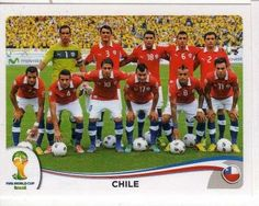 Squad of Chile for FIFA World Cup 2014   CHILE - Team Photo #147 PANINI 2014 FIFA World Cup Brasil Football ...