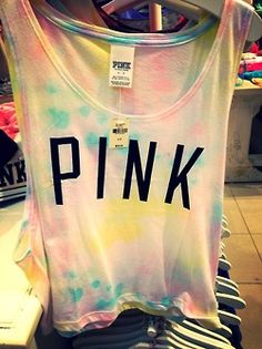 Love the tie dye, need more PINK clothes