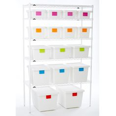TAGstore™ Boxes-The colored erasable labels are great and I like how clean they look.