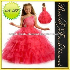 Hot Sale Long Layered Organza Beaded Birthday Dresses For Girls Of 7 Years Old $59~$99