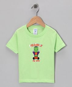 Take a look at this Key Lime 'Frankly I'm Cute' Tee - Toddler & Boys by Airwaves on #zulily today!