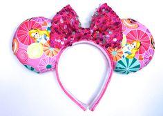 Alice In Wonderland Mouse Ears Handmade by WisheryEarMakers #alice #wonderland #minniemouseears #sparkle