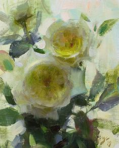 """Daniel J. Keys on Instagram: """"""""White Roses""""  10 x 8 inches, oil on linen DM for availability  This was painted during my recent Summer Arts course at the local Cal-state…"""" Daniel Keys, Daniel J, Art Tutor, Art Courses, Painting Still Life, Summer Art, White Roses, Yellow Flowers, Art Gallery"""