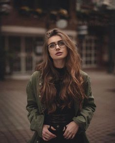 Anna, Girls With Glasses, Long Hair Styles, Portrait, Makeup, Clothes, Beauty, Fotografia, Make Up