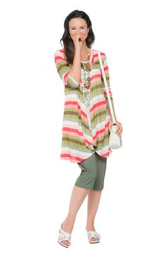 Light prints are in this season.  And there's nothing better than a butterfly print tunic to show your trendy side.