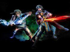 Legend of Zelda Link and Fire Emblem Marth Smash by barrettbiggers