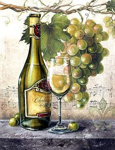 Lovely new, romantic wine images by noted artist Janet Stever, now available for licensing by Porterfield's. Vintage Wine, Vintage Paper, Arte Pallet, Wine Images, Wine Painting, Wine Decor, Wine Art, In Vino Veritas, Decoupage Paper