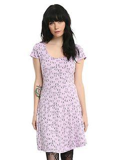 Lavender Cat Dress, PURPLE