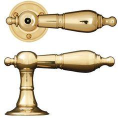 Dörrhandtag kammartrycke mässing / Brass door handle http://www.byggfabriken.com/sortiment/dorrhandtag/klassiska-dorrahandtag/info/produkter/560-141-kammartrycke/