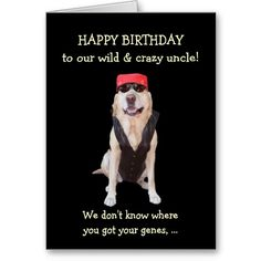 Customizable Funny Dogs Rebel Male Birthday Card