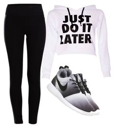 """Untitled #502"" by babygurlface ❤ liked on Polyvore featuring NIKE and Pieces"