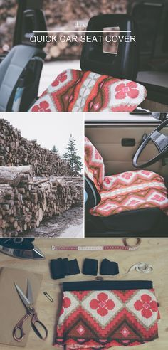 """How to cover up worn-out seats or protect the original upholstery from any mess? Check out this free tutorial that explains how to easily sew a car seat cover and don't forget to visit the collaborative board """"DIY bloggers for Volkswagen"""" for more inspiration: www.pinterest.com/volkswagen/diy-bloggers-for-volkswagen"""
