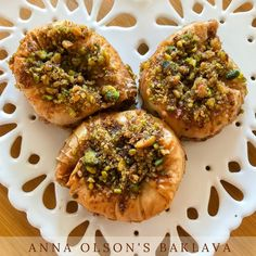 Nadire Atas On Baklava Desserts Beautiful Baklava Baklava Dessert, Beef Recipes, Cookie Recipes, Anna Olson, Barley Soup, Healthy Food, Healthy Recipes, Most Popular Recipes, Pistachio