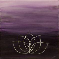 The Lotus 12x12 Original Lotus Flower on Canvas by MarketingColor, $35.00