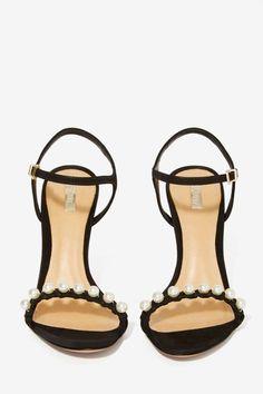 Suede Pearl Heel ==