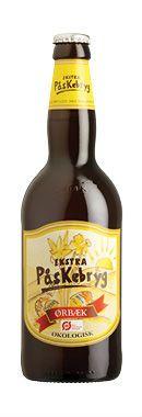 PÅSKEBRYG EKSTRA AROMATISK HUMLESMAG /    En stærk gylden øl med stor mundfylde. Den aromatiske humlesmag efterlader en lang og behagelig smagsoplevelse. Er velegnet til det danske påskebord, hvor den vil gøre sig godt til sild, eller som ledsager til kødretter.