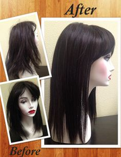 Proper care and maintenance for high heat synthetic hair. Click to see step by step process. Flame Wig in color 4/33.