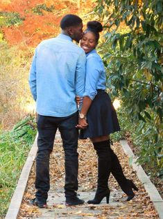 Engagement Pictures Love her outfit Couple Style, Black Love Couples, Cute Couples, Party Fashion, Fashion Shoot, Photos D'engagement, Black Families, Engagement Couple, Engagement Photos