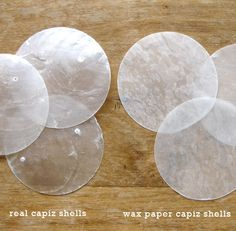 DIY shell light fixture made with WAX PAPER!!!  I will be making this!