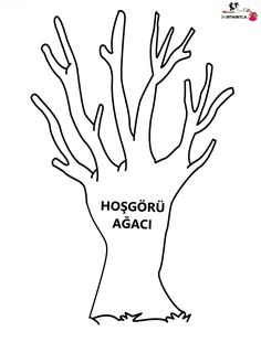 PROJE -HOŞGÖRÜ AĞACI Preschool Painting, Decorating Small Spaces, Preschool Activities, Coloring Pages, Crafts For Kids, Drama, Education, Design, Reggio