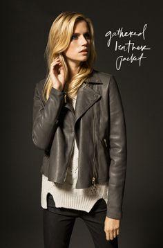 leather jacket // massimo dutti