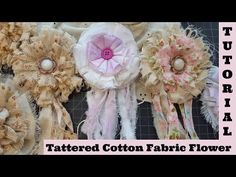 Tattered Tassel 4, Flower on a Budget, no sew, Shabby Chic Tutorial, frugal, by Crafty Devotion - YouTube