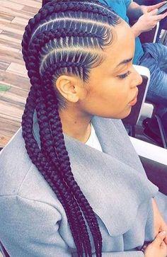Braided Cornrow Hairstyles, Big Box Braids Hairstyles, Hair Ponytail Styles, Braids Hairstyles Pictures, Braided Hairstyles For Black Women, Protective Hairstyles, Braids Cornrows, Cornrow Braid Styles, Senegalese Twists