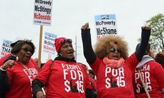 New York state fast food workers celebrate $15 minimum wage victory | US news | The Guardian
