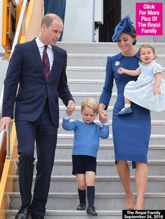 Royal Canadian Tour: Prince William, Kate Middleton & Kids Look Regal As They Land In Victoria