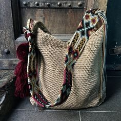 """Mayan Morral Bag """"tassel"""", by Otomiartesanal- Mayan Morral Bag """"tassel"""", by Otomiartesanal Morral Maya Hobo de Otomiartesanal Maya, Beautiful Hands, Hand Knitting, Etsy, Tassels, The Incredibles, Tote Bag, Style, Crochet Bags"""