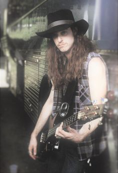 Cliff Burton in 1986 during the tour of Master Of Puppets  Scan by the book:Enternight Metallica:The Biography by Mick Wall  Credits:Ross Halfin  Edited by metaladdiction