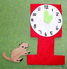 Hickory Dickory Dock (make hands move to teach time)