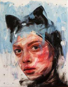 Original Portrait Painting by Natasa Bezic Digital Collage, Slovenia, Oil On Canvas, Painting Canvas, Graphic Prints, Saatchi Art, Art Drawings, Contemporary Art, Original Paintings
