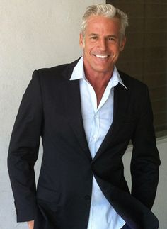 "Had to throw a few gorgeous men in too. ""Joe Kloenne proves gray-haired men can be sexy."""