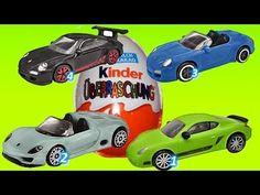 4 x Special Porsche Edition, Super Surprise egg, Kinder Surprise , unbox...