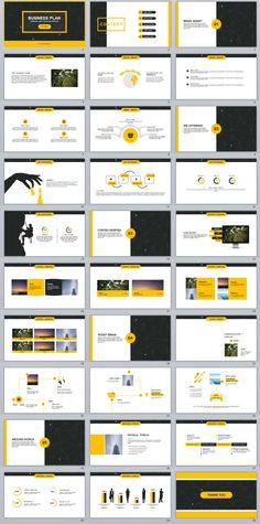 25+ yellow business plan report powerpoint templates | business, Modern powerpoint