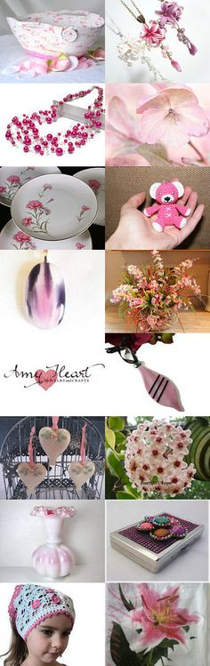Something Pink.... by ROSE on Etsy- #Etsy #treasury #pink #moses #basket #flower #trendy #gifts -Pinned with TreasuryPin.com
