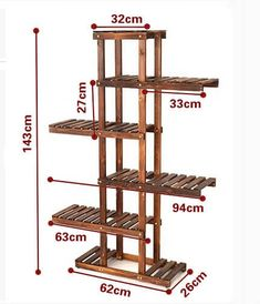 Useful Standard Shelf Dimensions - Engineering Discoveries Wooden Plant Stands, Diy Plant Stand, Garden Shelves, Plant Shelves, Small Bathroom Paint, House Plants Decor, Rustic Shelves, Pallet Furniture, Wood Projects