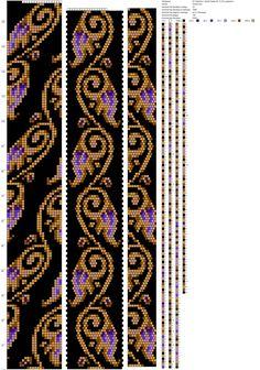 Рисуем схемы для жгутов из бисера, вышивки и др.'ın fotoğrafları Bead Crochet Patterns, Beading Patterns, Beaded Crochet, Bangles, Bracelets, Kandi, Seed Beads, Handmade, Beadwork