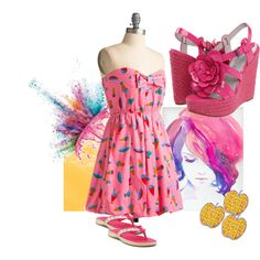 HotPink, created by kloeyblue on Polyvore