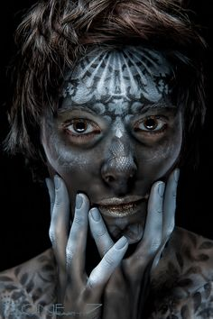 ".....""Sasha: Space Native"".....    Photography: Lou O'Neal.....  Model: Sasha Narber.....  Hair/Makeup/Body Art : Tash Kouri (www.tashkouri.com)....."